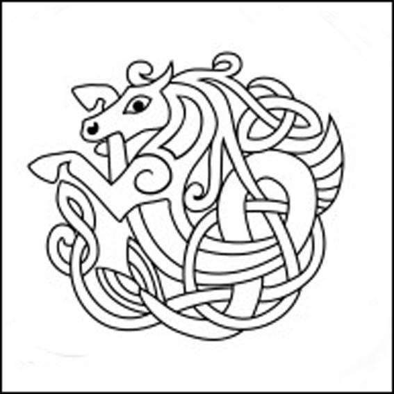 Кельтский узор лошадь.