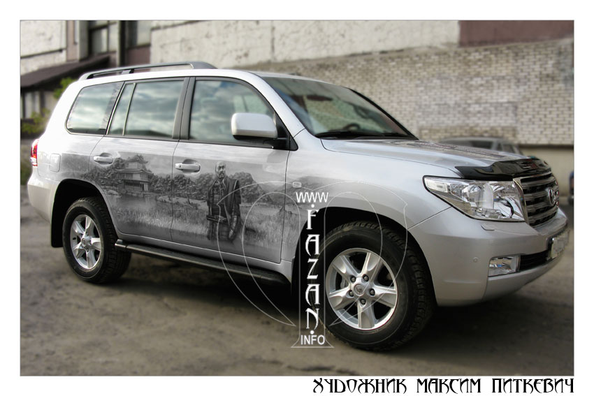 Аэрография самураев на автомобиле TOYOTA LAND CRUISER 200, фото 13.